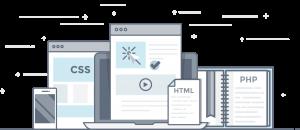 Flat Line Design Header - website